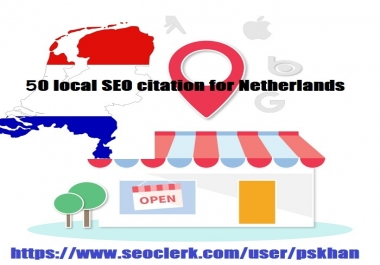 50 local SEO citation for Netherlands
