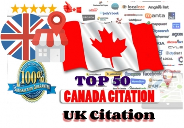 Top 50 Live Local seo citation for Canada and UK