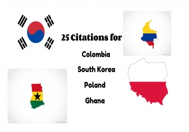 25 Citation for South Korea, Colombia, Poland, Ghana