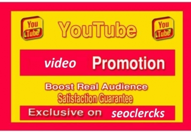 Best quality YouTube video promotion social media marketing
