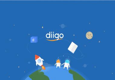 Unique Profile 80 Diigo Bookmark backlink DA30+ Site Bookmark