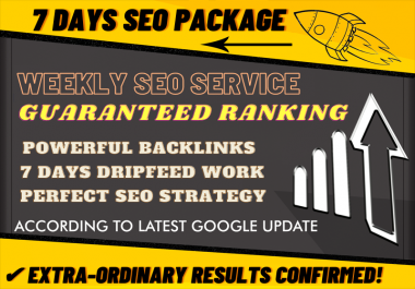 Weekly Super Booster Backlinks Package By Alicemarc12 SKYROCKET Your Money Website