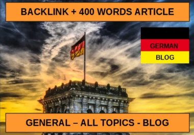 Write and Publish Guest Post On German blog