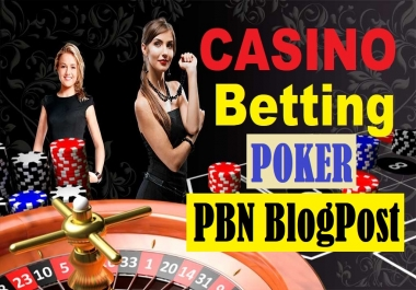 Rank your website with 999 PBNs Casino Online Poker Esports Betting Gambling Websites