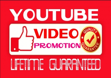 Provide HQ, HR, utube videos Promotion Instantly