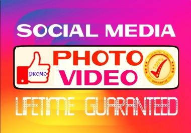 Provide Real Social super instant services for your Pics and Videos growth
