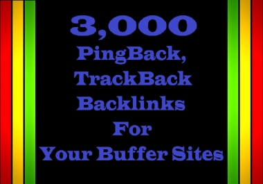 Submit 3,000 GSA PingBack, TrackBack Backlinks for Your Buffer website