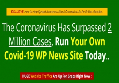 Ready Made Covid 19 News Website For Sale!