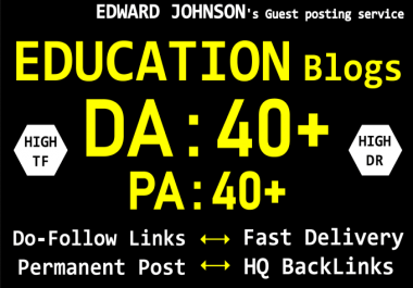 I will do permanent education guest post on high authority EDU sites