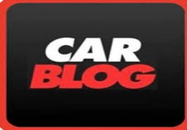 Car related premium guest post on DA48 blog