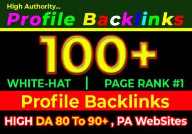 I will do 100 high domain authority SEO profile backlinks, link building manually