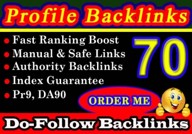 I Will Do 70 High Authority SEO Profile Backlinks Pr9 DA90