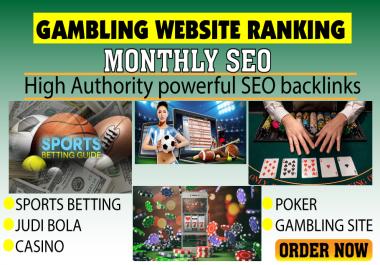 Gambling website monthly powerful SEO backlinks
