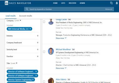 LinkedIn Data Scrap Using Sales Navigator
