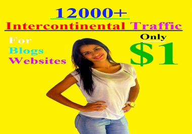 12000+ Intercontinental Traffic For Your Blogs/Websites