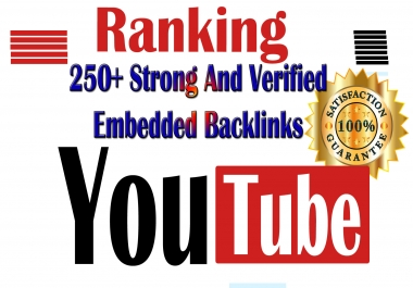 Manual YouTube VIDEO RANKING to skyrocket Your Video - Embed 250+ High Quality PA TF PR CF DF links
