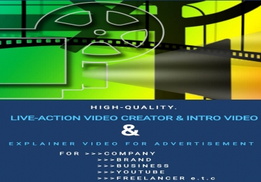 VIDEO ADVERT (Live Action) for company, business, brand and personal use