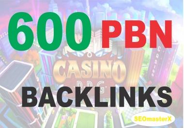 PBN - 600 Unique PBN Post Betting, Judi Bola, Casino, Poker Package - Speedy PBN with Bonus