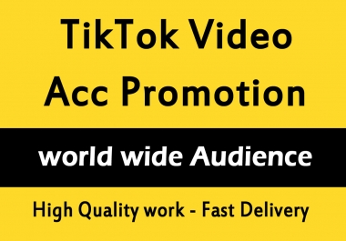 TikTok Video And Account Promotion Marketing via social media views