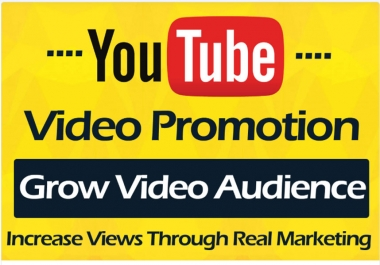 HQ YouTube Video promotion Marketing Via Real User