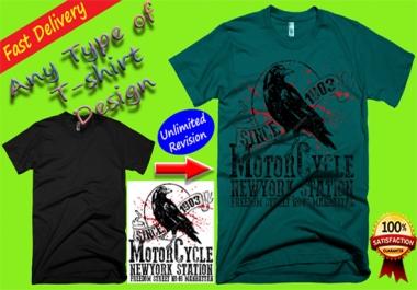 I will make nice T-shirt design