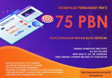 I will create Most Powerful pbn With high metrics DA30+ DR 50+ TF 30+ to boost your ranking On top