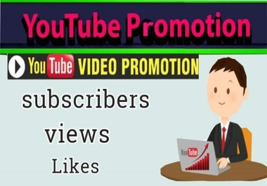 Organic YouTube promotion Non-Drop High Quality via social meadia marketing in very short time