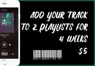 4 Week Music Playlist Promotion