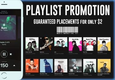 Music Playlist Promotion - GUARANTEED PLACEMENT