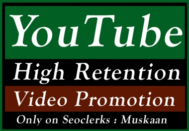 YouTube Video Promotion with High Retention for Seo Raniking and Social Media Marketing