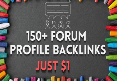 150+ Forum Profile SEO Backlinks with user credit and full reports in excel
