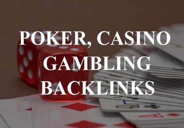 1100 HQ WEB 2.0 poker, casino and gambling backlinks