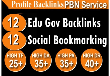 Create 12 Unique edu gov High Quality Backlinks
