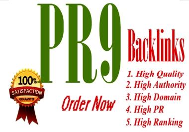 Create 20 High Quality Permanent HomePage PR9 to PR7 Dofollow SEO Backlinks