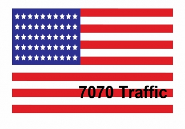 Provide 7070 organic USA traffic