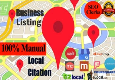 Manual 50 local citation,business listing,directory submission,local business,google maps citation
