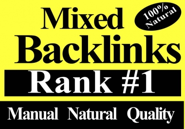 Manual 50 Mixed High Authority Natural backlinks permanent link building must rank,traffics