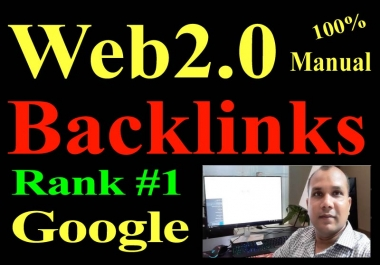 20 Manual Web 2.0 Backlinks Dofollow high quality permanent link building