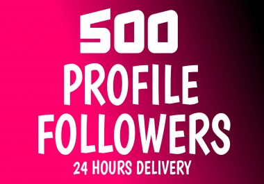 Add Fast 500+ Profile Followers High Quality
