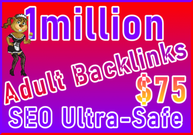 1M Power and Unique Adult Casino Backlinks for easy SEO Service