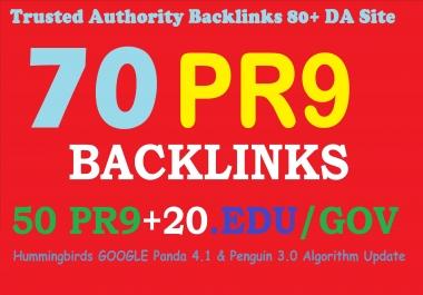 Exclusively_70 backlinks 50 PR9+20 EDU/GOV 80+DA Manual & Safe SEO For Boost Your Google Ranking