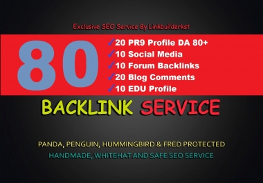 5 Step 75 SEO Backlinks PR9,EDU,Forum,Social Media Links for Boost GOOGLE Ranking