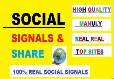 1100 social signals ( top social platforms seo signal backlinks )