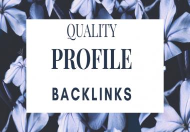 Create high authority Profile Backlinks