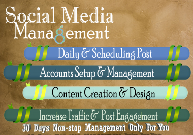 Do Social Media Management For 30 Days