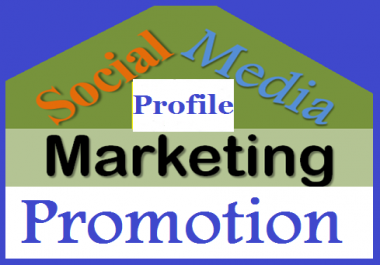 Provide Social Media Profile Promotion From Various ID