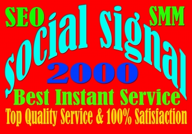 Drip Feed 2000 Website Mixed Social Signals