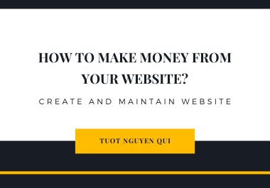 I Will Create a Great Website for You To Make Money Online