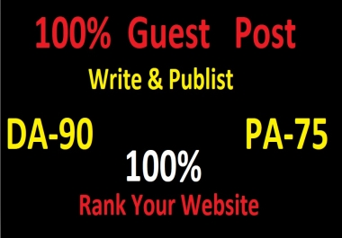 I will guest post health content on high DA -90 sites