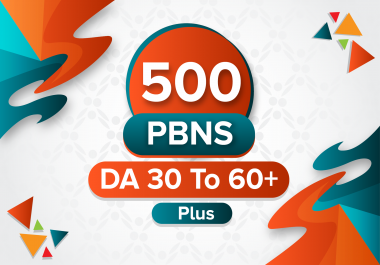 Manually 500 Homepage PBNs DA30 to 60+ Unique Domains to boost your site ranking